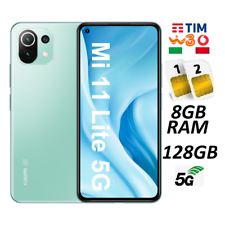 XIAOMI MI 11 LITE 5G DUAL SIM 128GB 8G RAM GREEN GARANZIA ITALIA BRAND