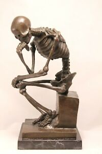 Elegant Original Signed by Milo Bronze Marble Statue Nude