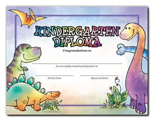 kindergarten diploma dinosaurs cool school studios package of