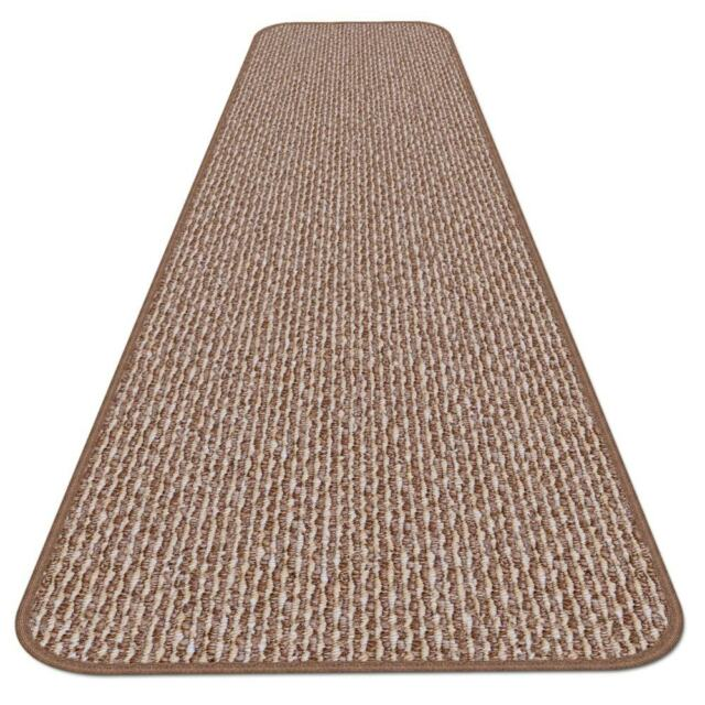 12 Ft X 27 In Skid Resistant Carpet Runner Praline Brown Hall Area Rug Floor
