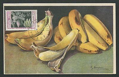 Diverse Philatelie Briefmarken Aof Mk 1958 Flora FrÜchte Banane Banana Fruits Fruit Maximum Card Mc Cm D5674 Reine WeißE