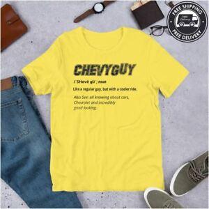 Chevy-Guy-Defined-Corvette-Camaro-Chevelle-Impala-Mens-Tee-T-Shirt-M-4XL