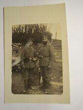 2 Soldaten in Uniform - Reserve Feldlazarett 51 - 1915 Feldpost Frankreich Foto
