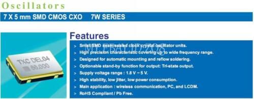 5PCS 40 m 40.000 M 40 MHz 40.000 MHz OSC Active Crystal Oscillator 0705 7mm×5mm