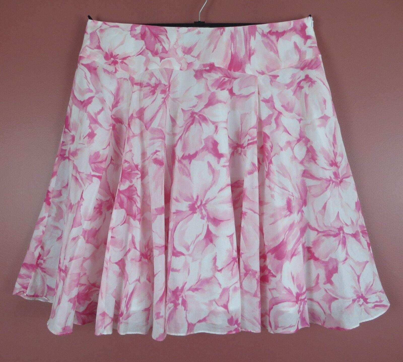 SK13307- JONES NEW YORK Womens Thin Lightweight Cotton Flare Skirt Floral Sz 20W