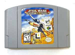 Star Wars Rogue Squadron NINTENDO 64 N64 Game - Tested - Working - Authentic!