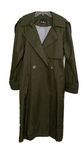 Sam Edelman Olive Green Double Breasted Trench Co