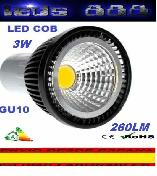 BOMBILLA FOCO  LED COB GU10 3W BLANCO CALIDO.