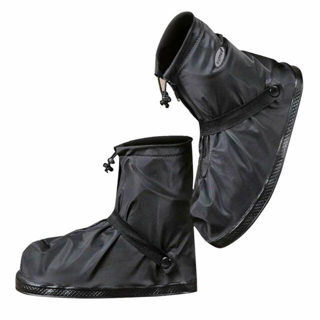VXAR Rain ShoeCover Waterproof Overshoe Black1 2XL