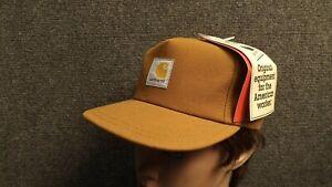 Vtg-NOS-Kids-Carhartt-Duck-Cotton-Canvas-Snapback-Hat-USA-Made-Adult-6-1-2-Max