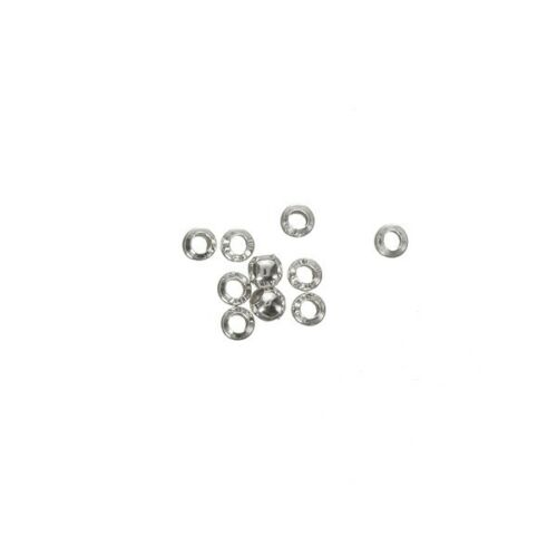 Pack of 10 A86//6 Sterling Silver 925 Round Crimp Beads 2mm 1mm Hole