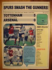 Tottenham Hotspur 5 Arsenal 0 - 1983 - souvenir print