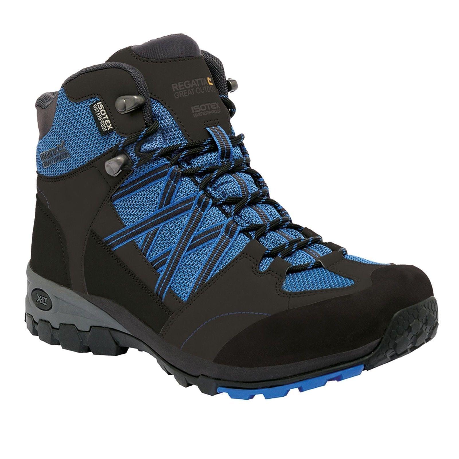 REGATTA da uomo SAMARIS Mid Da Passeggio Trail RMF509 Waterproof Boot blu arancione RMF509 Trail e97368