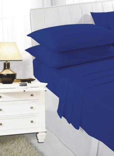 "Percale Bunk Bed Fitted Sheet Caravan Campervan 76cmx190cm Royal Blue 2ft 6/"""