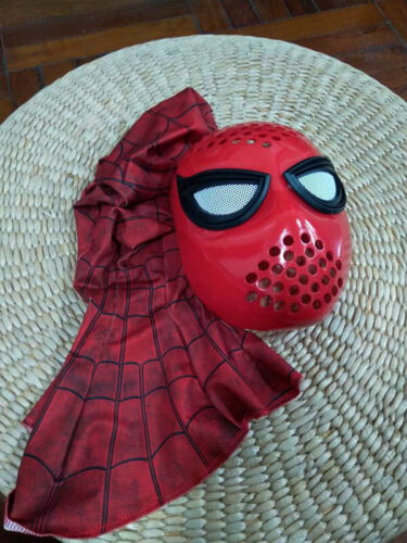 HomeComing Civil War Amazing Spiderman Faceshell With Lenses Fabric Mask Props