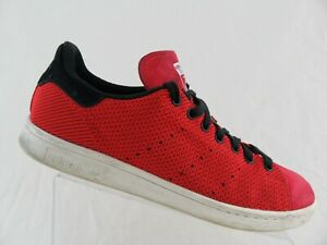 superior quality 28af1 b5e7a Details about ADIDAS Stan Smith Primeknit Red Sz 12 Men Running Shoes