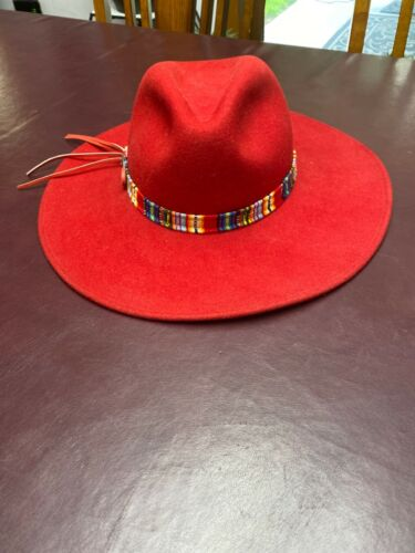 Red bailey hat