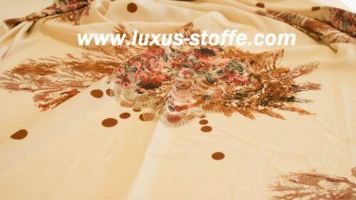 Kleider Stoff Kleiderstoff weicher Stoff Blumen Stoff KT10
