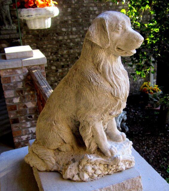 CONCRETE GOLDEN RETRIEVER  STATUE/ MEMORIAL,PET GRAVE MARKER,IS SOLID CONCRETE