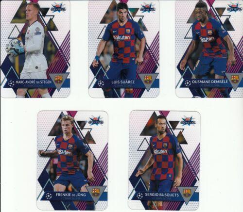 Topps Champions League Crystal 2020-Les 5 Club cartes de base