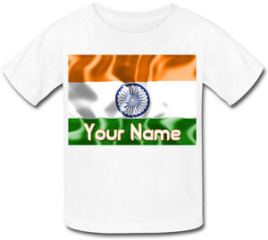 INDIA-INDIAN-FLAG-PERSONALISED-SUBLIMATION-KID-039-S-T-SHIRT-NAMED-CHILD-039-S-GIFT