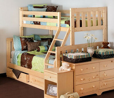 Twin Over Full Bunk Bed in Natural Finish - 2301-5A, 2301-5B, 2302-5A, 23 288826