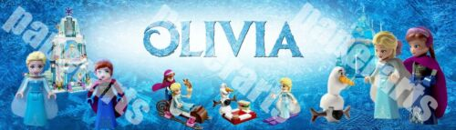 Personalized LEGO Disney Frozen Elsa/'s Sparkling Ice Castle Name Banner Poster