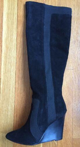 Suede Report Maat Signature Laarzen Modieuze Tall Wedge Nib Islah 7 Zwart nN8m0w