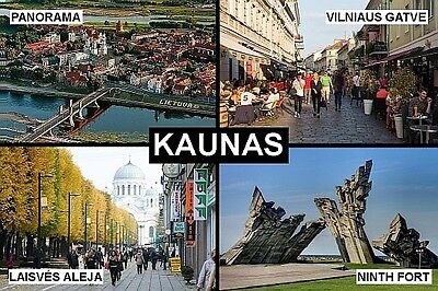 SOUVENIR FRIDGE MAGNET of KAUNAS LITHUANIA