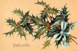 CPA-Fantaisie-Don-du-Coeur-Hirondelle-et-fleurs