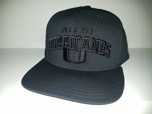 Miami-Hurricanes-Hat-Adidas-Snapback-Blackout-Black-on-Black-College-Football