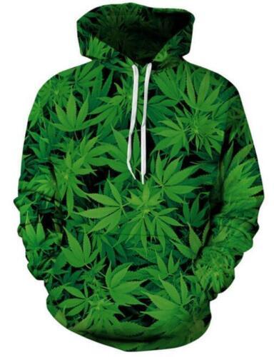 New Fashion Women//Men Weed Camo 3D Print  Pullover Hoodie Sweatshirt S50
