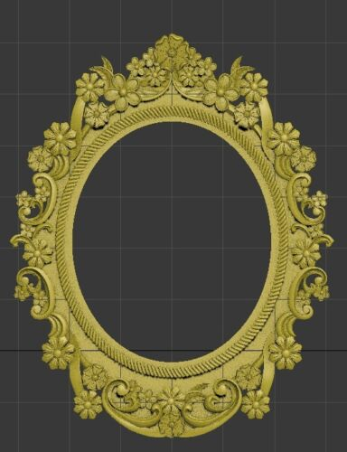 3d STL models for CNC Artcam relief frame mirror Aspire