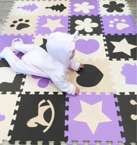 Children/'s Soft Developing Crawling Rugs Play Puzzle Number//letter Eva Foam Mat