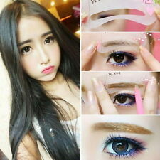 Korean Fashion Style Eyebrow Eye Brow Class Drawing Guide Stencil Card Assistant