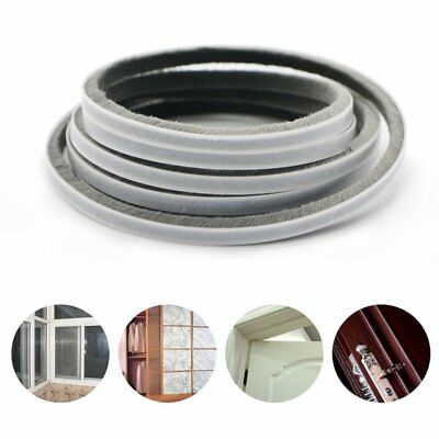 10m Weather Draught Excluder Brush Strip Window Door Seal Tape Self-adhesive Hot