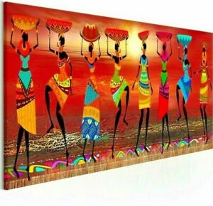 Wall-Art-African-Women-Dancing-Poster-Canvas-Pictures-Living-Room-Decoration