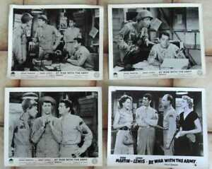 4-Aushangfotos-At-War-with-the-Army-JERRY-LEWIS-DEAN-MARTIN-s-w-USA