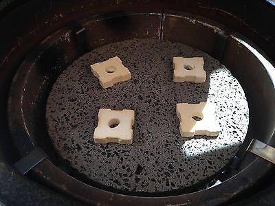 4 New Cordierite Ceramic Spacers For Kamado Big Green Egg Ceramic Cookers