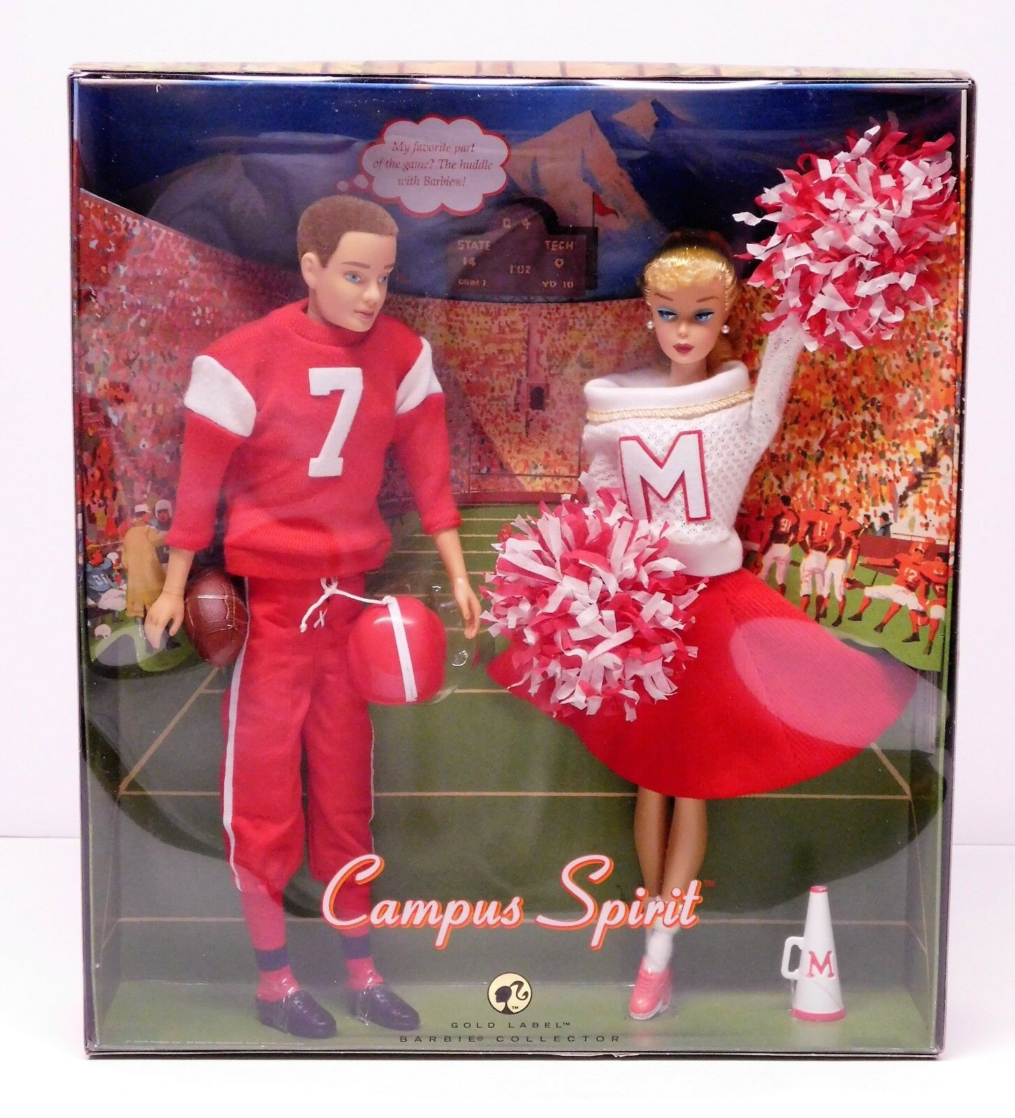 1963 Vintage Campus Spirit Barbie & Ken oro Repro  Nrfb