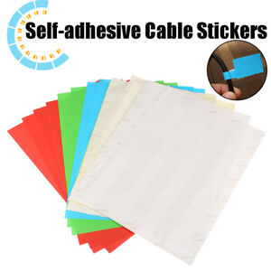 be570b1f587c Image is loading 300pcs-Self-adhesive-Cable-Labels-Identification-Marker- Tags-