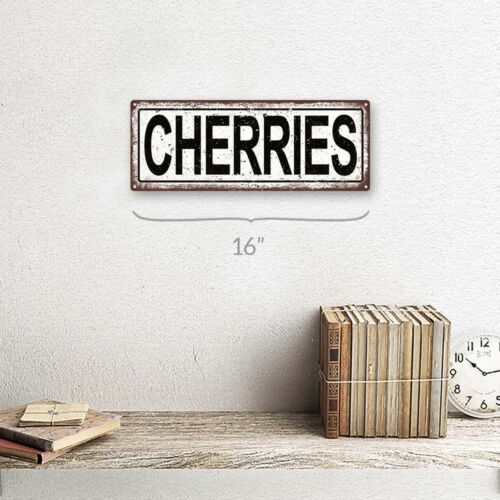 Cherries Metal Sign; Wall Decor for Kitchen and Dinning Room