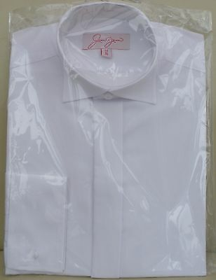 Rational New Mens White Formal Wedding/evening Shirt With Wing Collar/ Adjustable Button Ruf Zuerst