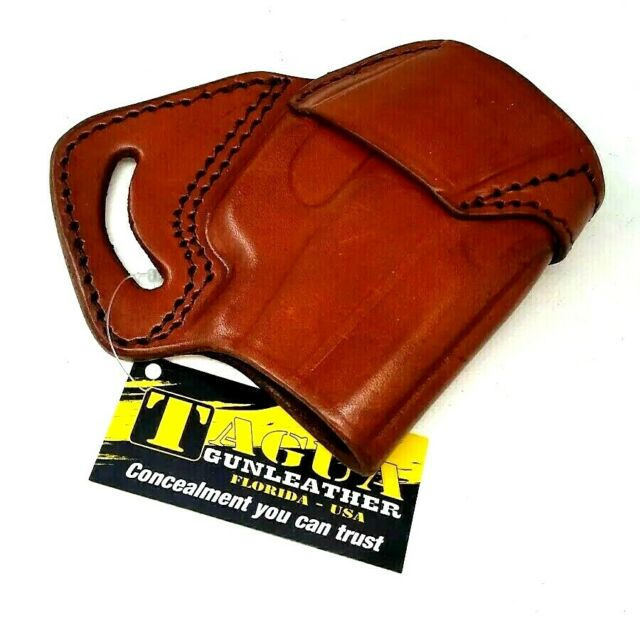 Tagua Mbh-078 Ambi Brown Leather SOB Holster for Ruger Lc9 Lc380 With CTC  Laser