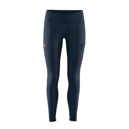 Fjallraven Abisko Trail Tights Womens Pants Walking Navy All Sizes