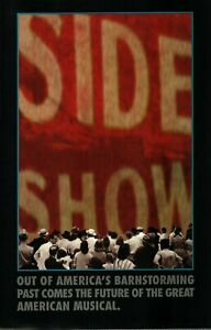 """Rare Mint Advertizing Flyer for """"Side Show"""" Alice Ripley and Emily Skinner 1997"""