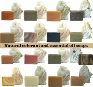 Choose-4-Handmade-Soaps-All-Natural-therapeutic-botanical-soap-aromatherapy-Gift