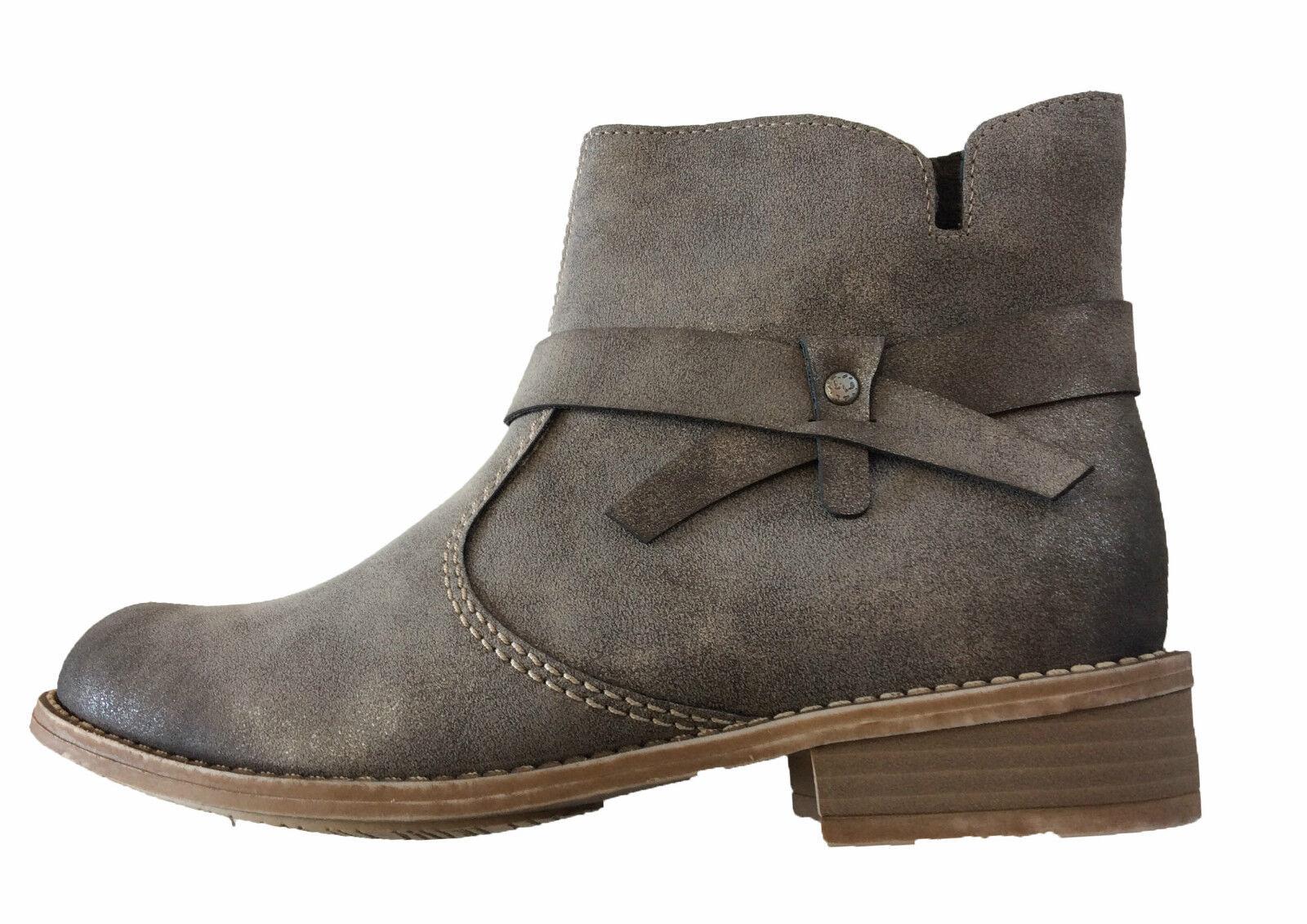 Rieker Stiefeletten Kurzstiefel Stiefel Winter Grau Grau Grau Beige Damen Schuhe 171255 1ff1d3