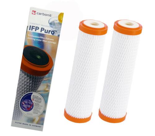 2 X FILTRO ACQUA CARTUCCIA CARBONIT IFP Puro Per Sanuno Vario Duo auftischfilter