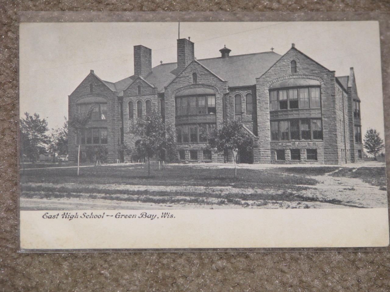 East High School, Green Bay, Wisc., unused vintage card